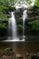 9391 Summerhill Force and Gibsons Cave, Bowlees, Teesdale, County Durham.